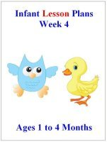 August Infant lesson plans for ages 1 to 4 months week 4