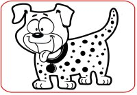 Printable Black & White Dog Picture For Baby To Focus On