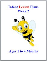 Infant lesson plans for ages 1 to 4 months, week 2