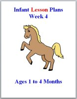 Infant theme based lesson plans for ages 1 to 4 months, week 4