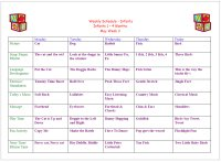 Weekly Calendar For Infant 4 to 6 Months for Pet Week Theme infant Lesson Plans