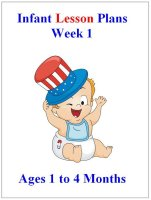 July Infant curriculum for ages 1 to 4 months week 1