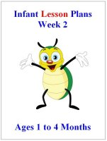 July Infant lesson plans for ages 1 to 4 months week 2