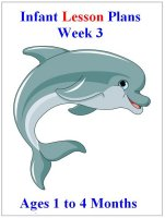 July Infant curriculum for ages 1 to 4 months week 3