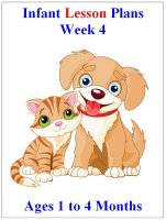 July Infant lesson plans for ages 1 to 4 months week 4