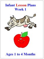 September Infant curriculum for ages 1 to 4 months week 1