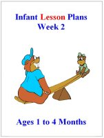 September Infant lesson plans for ages 1 to 4 months week 2