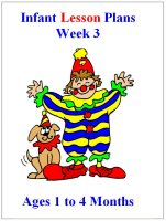 September Infant curriculum for ages 1 to 4 months week 3