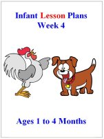 September Infant lesson plans for ages 1 to 4 months week 4