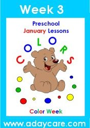 January Preschool Curriculum – Color Theme Lesson Plans