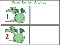 Dragon Number Match Up Game Red and Blue
