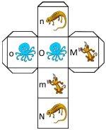 Letter MNO cube