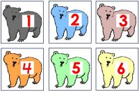 Bear number match up game