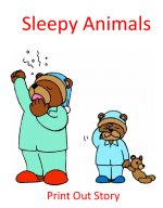 Sleepy animals story for our preschool hibernation theme