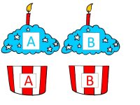 Cupcake letter match up game