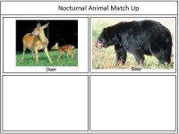 Forest Animals Game Board