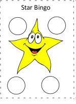 Star letter Bingo game