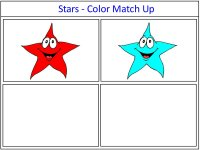 Star Color Match Up Game for preschoolers for 4th of July
