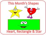 Preschool Julys Shapes are A Star, Heart & Rectangle