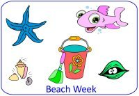 Preschool Beach Theme Poster