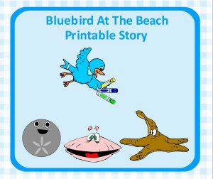 Bird at the beach printable story