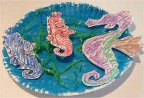 Daddy Seahorse Craft and baby seahorses