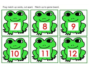 preschool frog numbers 6 to 12