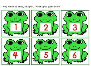 Frog numbers 1 thru 6