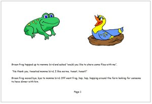 Frog shared his food today book page 1