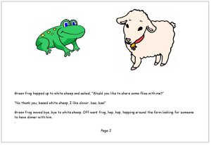 Frog shared his food today book page 2