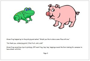 Frog shared his food today book page 3
