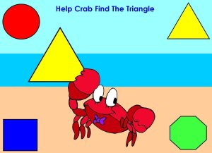 Help Crab find the triangle