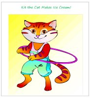 Kit The Cat Makes Ice Cream - Printable Book