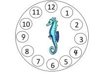 Seahorse Circle – Numbers 1 thru 12