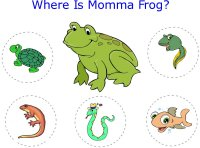 Tadpole looks for mommy frog – printable game
