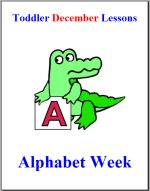 Toddler Lesson Plans – Week 4 – Alphabet Theme