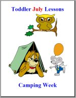 Toddler Lesson Plans – Week 4 – Camping Theme