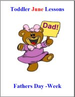 Toddler Lesson Plans – Week 2 – Fathers Day Theme