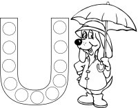 August toddler weekly themes birds theme nursery rhymes theme letter u umbrella coloring page spiritdancerdesigns Gallery
