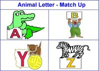 Animal Letter Match Up Activity for toddlers ages 18 – 36 months