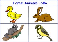 Forest Animals Match up
