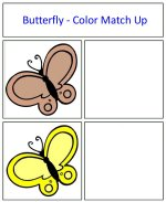 Butterfly Color Match Up Game