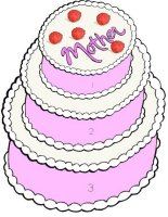 Printable Mothers Day Cakes Small, Medium and Large Puzzle