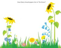 How Many Grasshoppers Are In The Grass? Preschool Math Activity