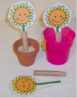 Preschool Flower Theme Activity, plant the sunflowers