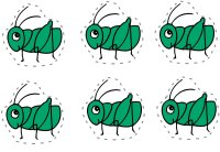Six Green Grasshoppers - Preschool Math Counting Activity