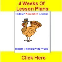 Toddler November curriculum includes 4 weeks of lesson plans