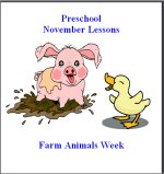 November Preschool ages 2.5 to 6 years, click here to view!