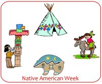Preschool November Poster for Native American unit