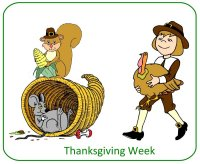 Preschool November Poster for Thanksgiving unit